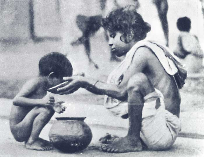 Around three million died in the 1943 famine; lakhs perished on Calcutta's streets (Photograph by Tarak Das)